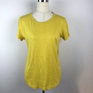 Caslon Women's Yellow Short Sleeve Tee Size S